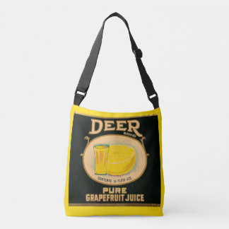 1930s Deer Brand Grapefruit Juice label Crossbody Bag
