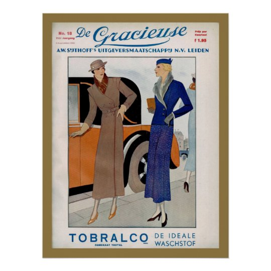1930s Fashion Ad from a Dutch magazine 1933