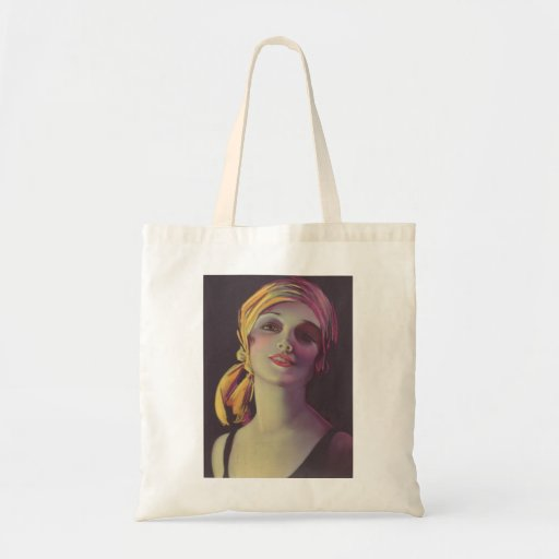 1930's Gypsy Glamour Girl Tote Bag
