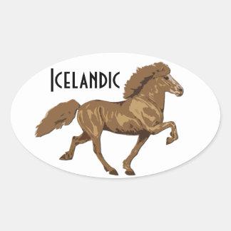 1930s Icelandic Oval Sticker