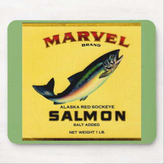 1930s Marvel salmon can label Mouse Mat