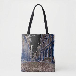 1930s Photo Cobblestone Street Ottawa Canada Art Tote Bag