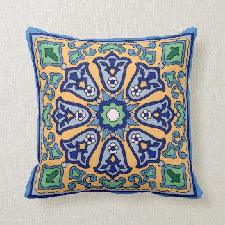 1930s Vintage Catalina Island Tile Design Cushion