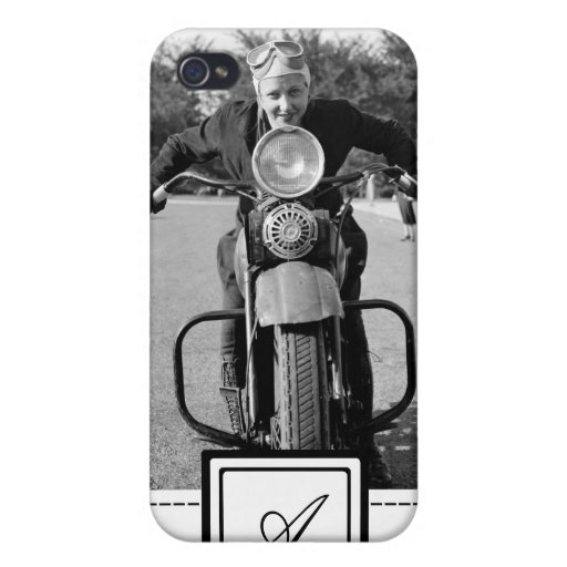 1930s Vintage Motorcycle iPhone Case & Monogram iPhone 4 Cases