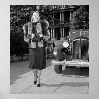 1930s Women's Fashion Poster