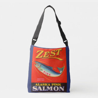 1930s Zest pink salmon can label Crossbody Bag