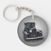 1931 CHEVROLET Single-Sided ROUND ACRYLIC KEYCHAIN