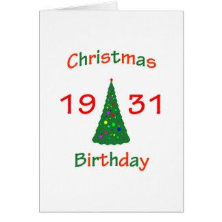 1931 Christmas Birthday Card