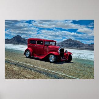 1931 Ford Street Rod Bonneville Salt Flats Poster
