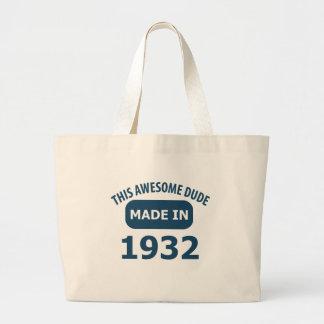 1932 birthday designs tote bag