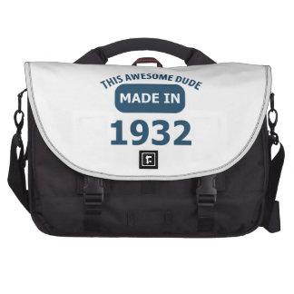 1932 birthday designs laptop commuter bag