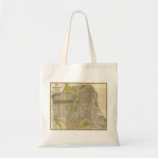 1932 Candrain Map of San Francisco California Budget Tote Bag