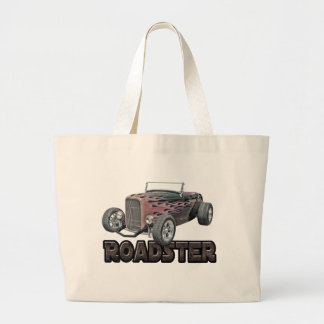 1932 Ford Roadster Hot Rod Flaming Hot Tote Bag