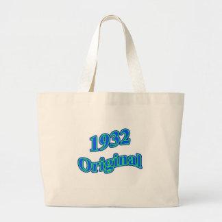 1932 Original Blue Green Tote Bags