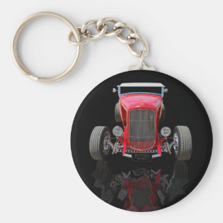 1932 Red Roadster Basic Round Button Key Ring