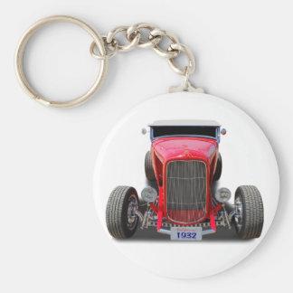 1932  Red Roadster Key Ring