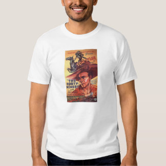 1932 Tom Tyler western movie color poster T-shirts