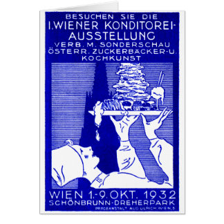 1932 Vienna Baking Expo Poster Card