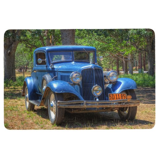 1932 VINTAGE CAR IN COUNTRY SETTING FLOOR MAT