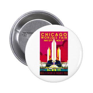 1933 Chicago World Fair 6 Cm Round Badge