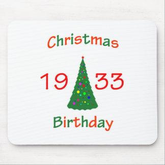 1933 Christmas Birthday Mousepad