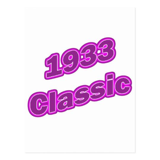 1933 Classic Purple Postcard