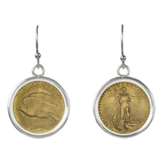 1933 Double Eagle Gold Coin Earrings