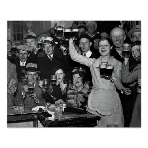 1933 END of PROHIBITION CELEBRATION - CHICAGO Poster