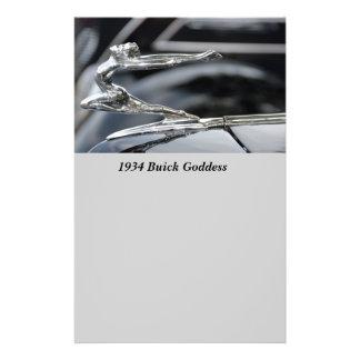 1934 Buick Goddess Hood Ornament Flyer