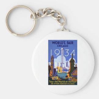 1934 Chicago World Fair Key Ring