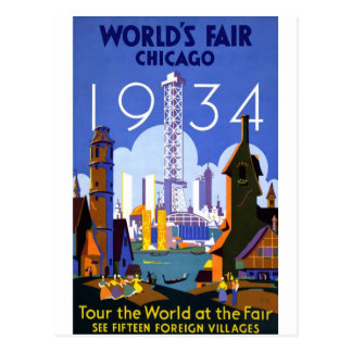 1934 Chicago World's Fair Post Card