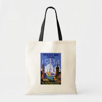 1934 Chicago World's Fair Tote Bag