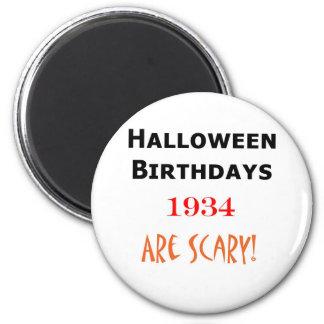 1934 halloween birthday 6 cm round magnet
