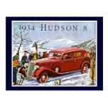 1934 Hudson 8 - Vintage Advertisement Post Cards