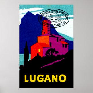 1934 Lugano Philatelic Poster