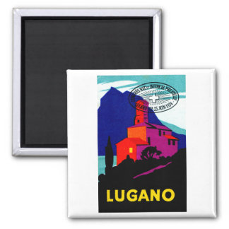 1934 Lugano Philatelic Poster Magnet