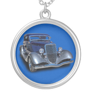 1934 VINTAGE CAR SILVER PLATED NECKLACE