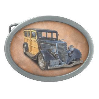 1934 VINTAGE WOODIE OVAL BELT BUCKLE