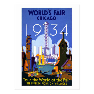 1934 World's Fair Chicago Postcard