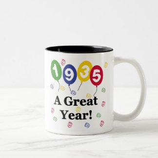 1935 A Great Year Birthday Coffee Mugs