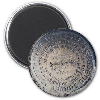 1935 Azimuth Survey Mark Magnet