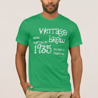 1935 Birthday Year 80th Vintage Brew Gift T-Shirt