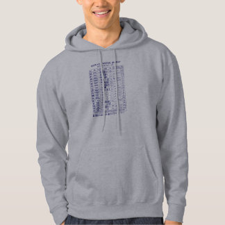 1935 Chemical Warefare Chart, blue Hooded Sweatshirt