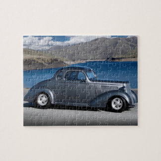 1935 Chevy Master Coupe Hot Rod Scenic Lake Jigsaw Puzzle