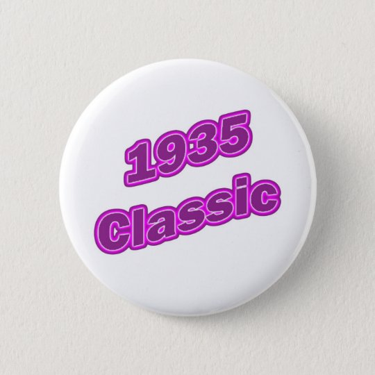 1935 Classic Purple 6 Cm Round Badge