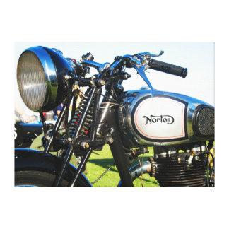 1935 Norton model 50 motorcycle Canvas Print