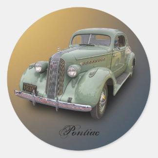 1935 PONTIAC ROUND STICKERS