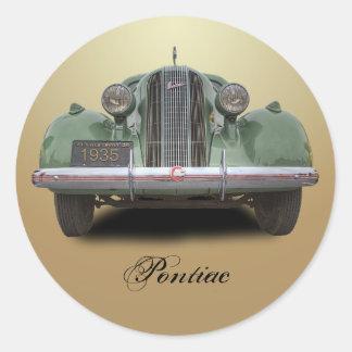 1935 PONTIAC STICKER