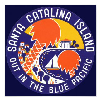 1935 Santa Catalina Island 13 Cm X 13 Cm Square Invitation Card