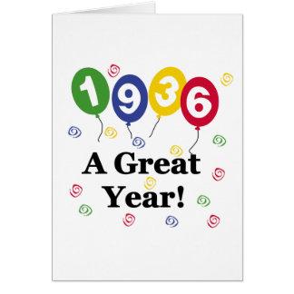 1936 A Great Year Birthday Greeting Card